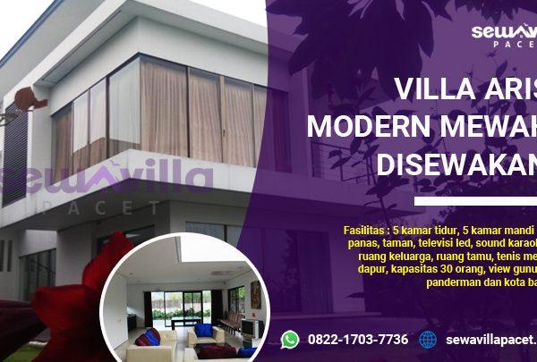villa aris pacet disewakan modern elegan