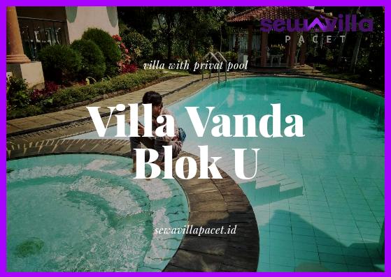 Villa Vanda Blok U Trawas Kolam Renang dan Taman Minimalis