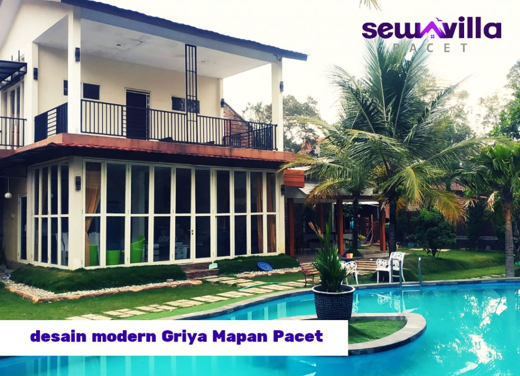 bangunan modern villa griya mapan pacet