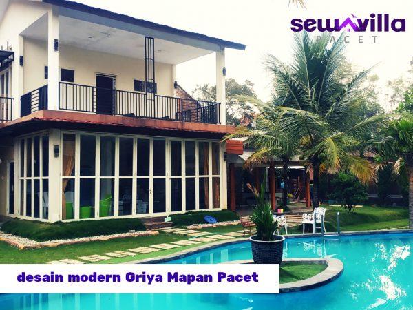 Villa Griya Mapan Pacet Fasilitas Kolam Renang, Billiard, View Bagus