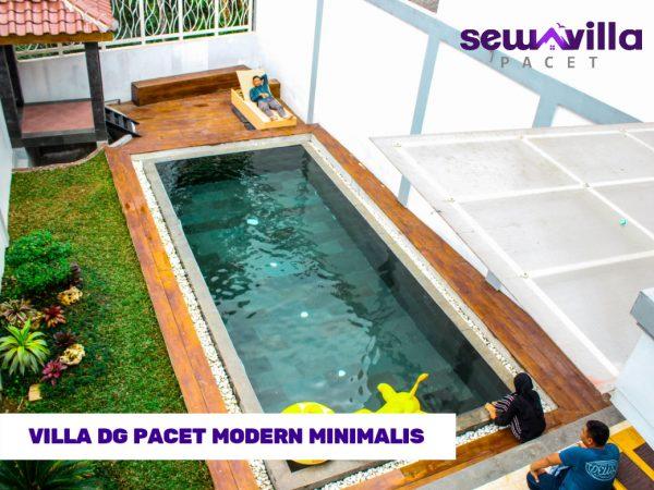 Villa DG Pacet Tawarkan Penginapan Modern Bersih Minimalis Kolam Renang Pribadi