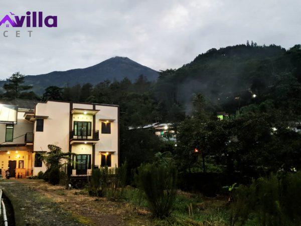 villa nuansa padusan dengan view gunung welirang