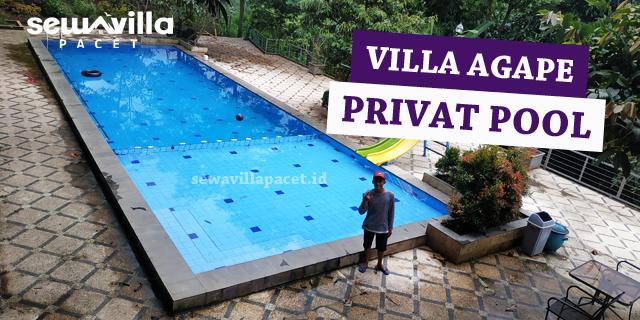 kolam renang untuk dewasa dan anak-anak di villa agape pacet