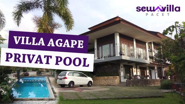 villa agape pacet mewah dengan fasilitas kolam renang pribadi