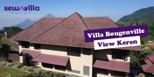 villa bougenville pacet menghadap gunung dan bukit di pacet mojokerto