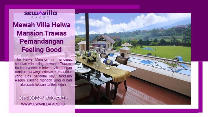 balkon yang menghadapa pemandangan indah di villa heiwa mansion trawas