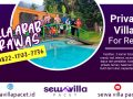 villa arab trawas fasilitas kolam renang pribadi