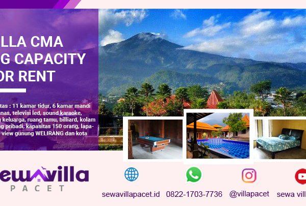 Villa Griya CMA Pacet Kapasitas Besar Kolam Renang Pribadi