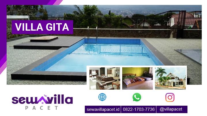 villa gita batu malang akomodasi penginapan fasilitas kolam renang dekat wisata populer