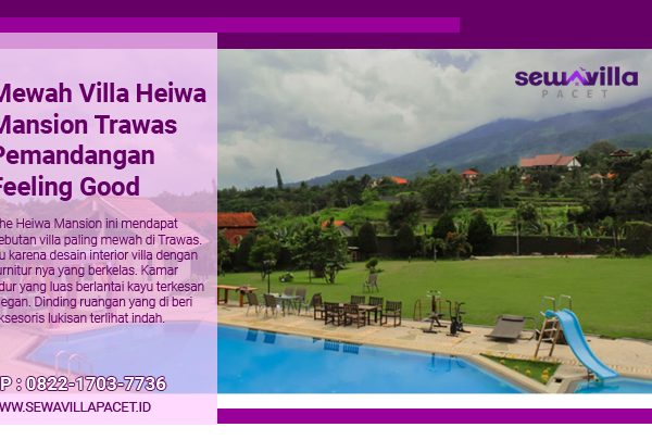 Mewah Villa Heiwa Mansion Trawas Pemandangan Feeling Good