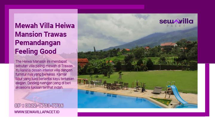 villa heiwa mansion trawas fasilitas kolam renang pribadi