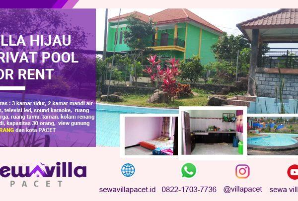 Villa Hijau Pacet Kolam Renang Pribadi Pemandangan Menawan