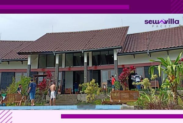 villa kambing trawas memiliki bangunan modern nuansa etnik