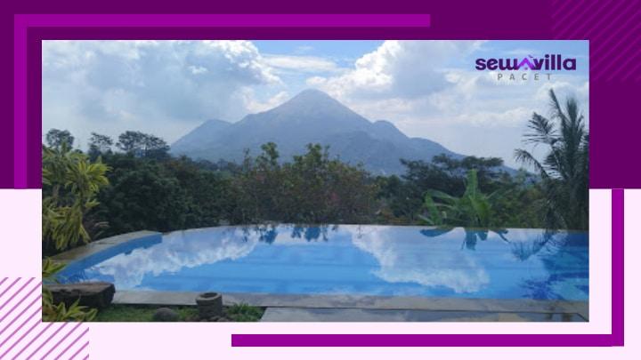 villa kambing trawas kolam renang pribadi menghadap gunung