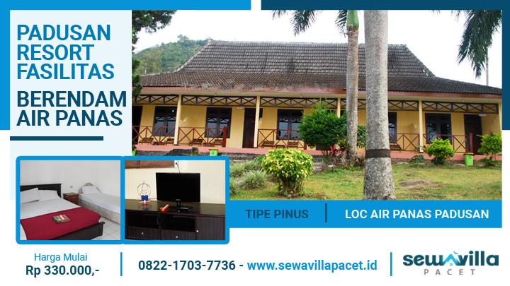 villa padusan resort tipe pinus terdiri dari 5 unit kamar standart