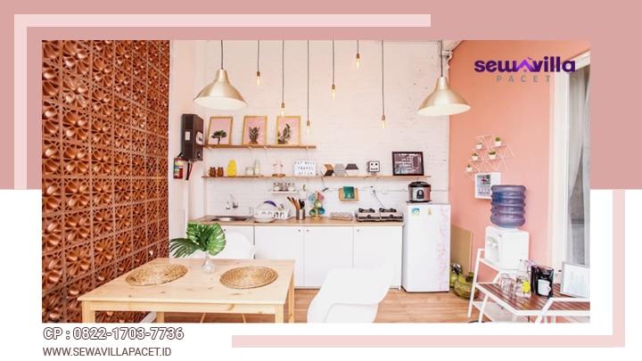 dapur dan peralatan yang lengkap tersedia di villa casa skyrose batu