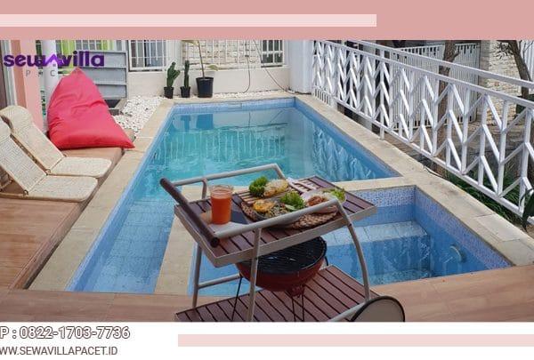 kolam renang untuk anak dan dewasa di villa casa skyrose batu