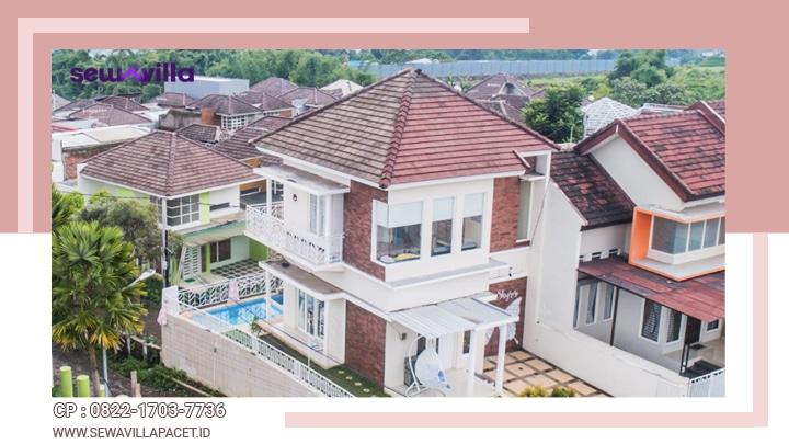 villa casa skyrose batu bangunan modern minimalis dengan view alam yang menawan