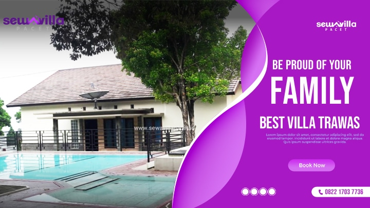 villa family trawas menawarkan penginapan dengan kolam renang pribadi