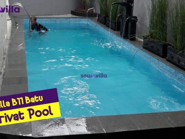 villa b 11 batu modern mewah dengan kolam renang pribadi
