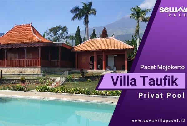 Villa Taufik Pacet Kolam Renang Bergaya Klasik