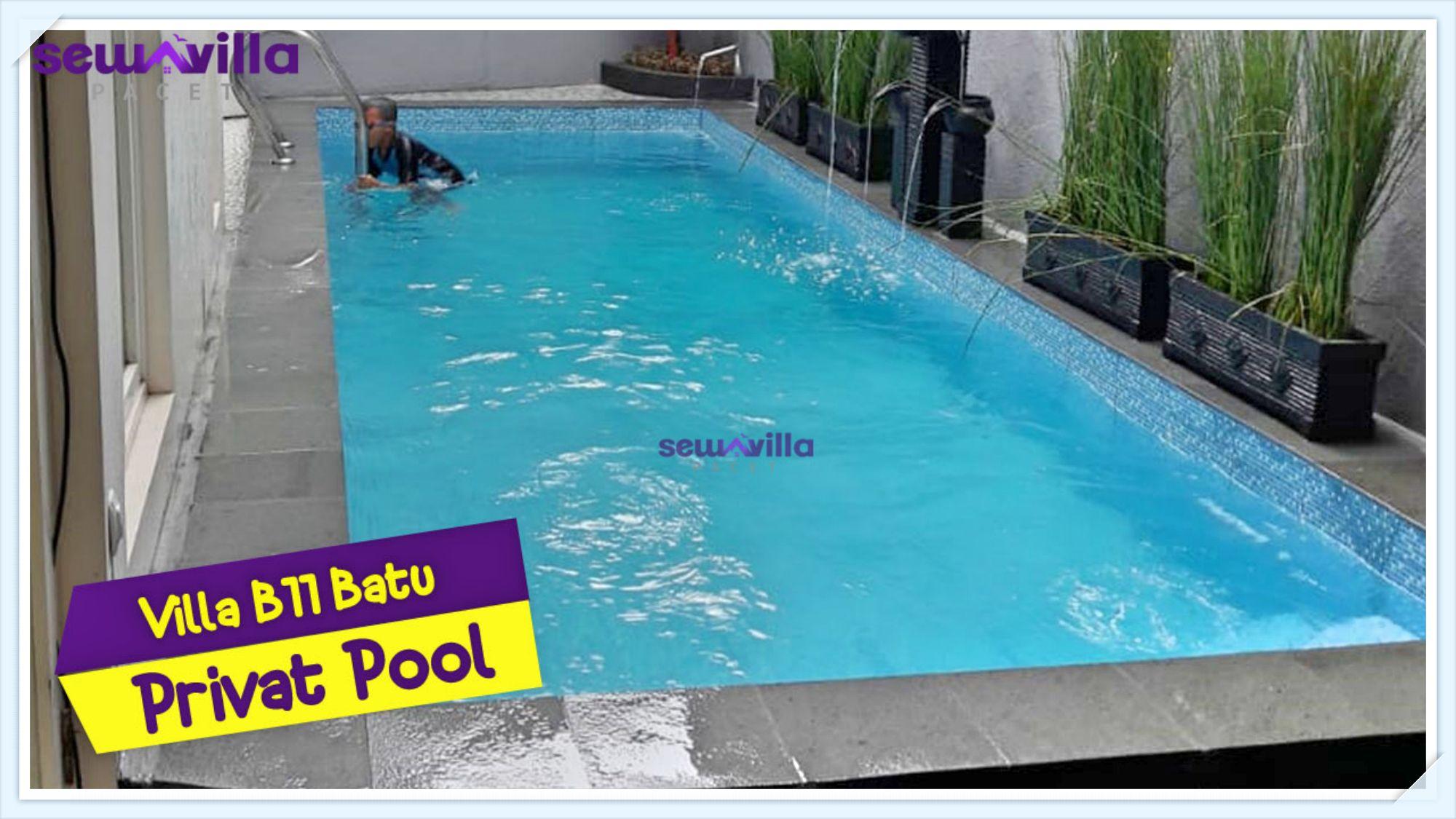 villa b11 batu modern minimali kolam renang pribadi