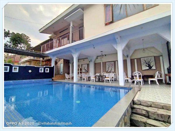 villa bagus batu kolam renang pribadi mewah modern