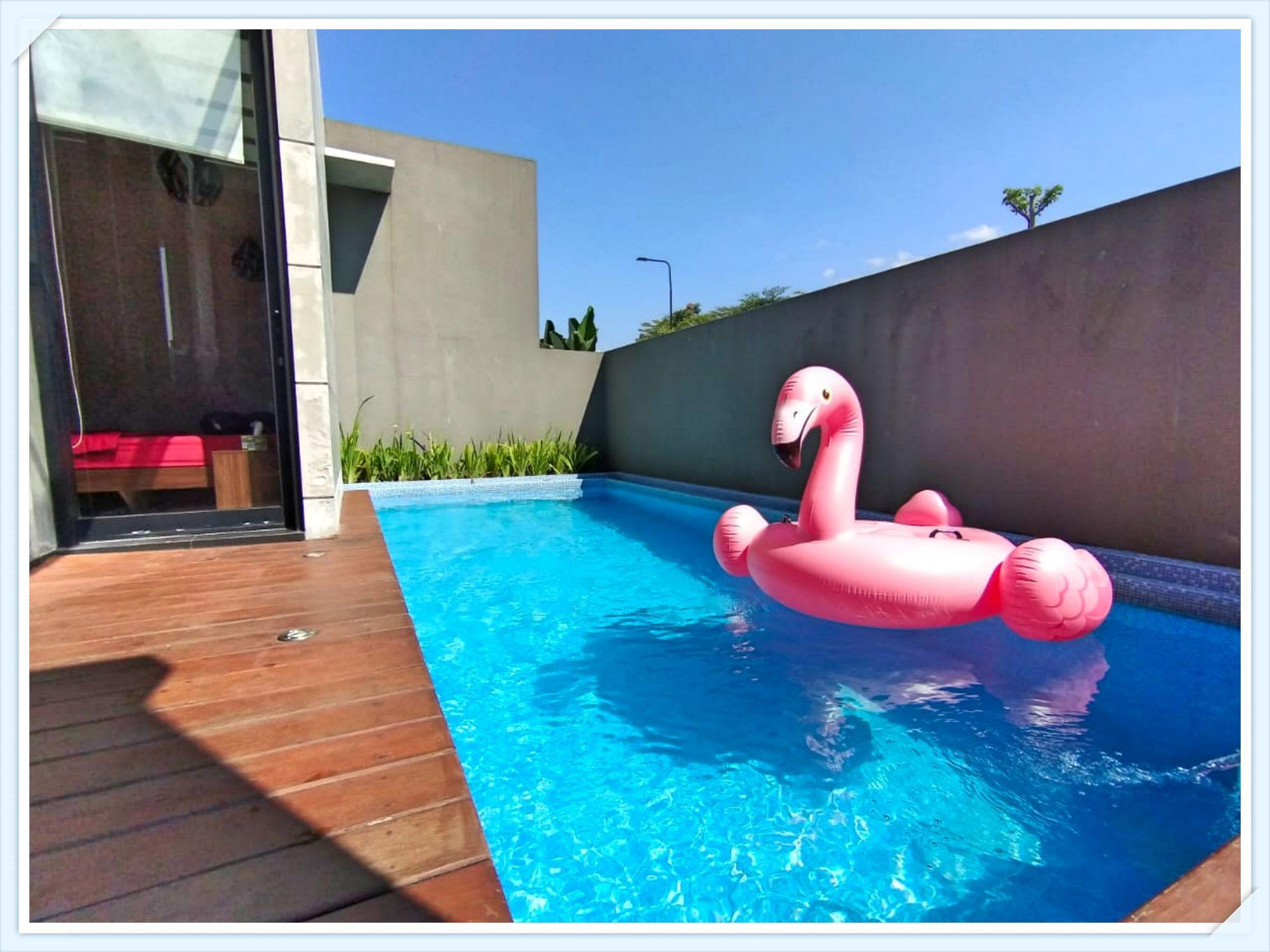 villa b15 batu modern minimalis dilengkapi dengan kolam renang pribadi