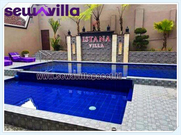 Villa istana batu kolam renang pribadi modern mewah kapasitas besar