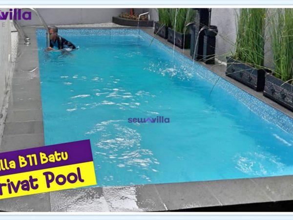 villa b11 batu kolam renang pribadi cocok buat liburan bersama keluarga