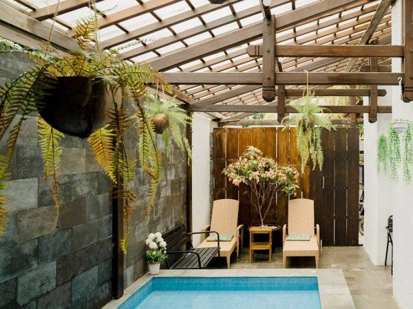 kolam renang ostic house staycation di jogja