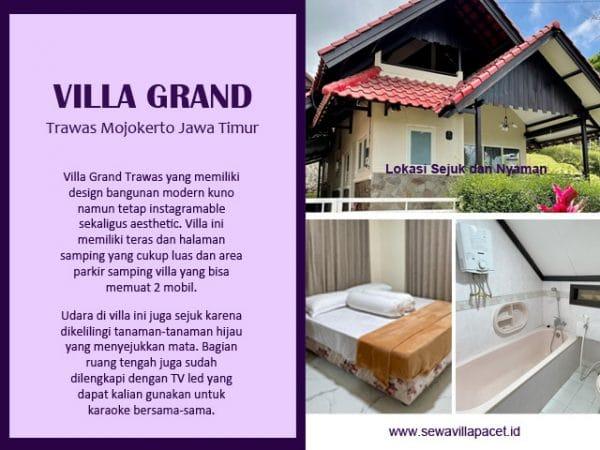 villa grand trawas modern minimalis suasana asri