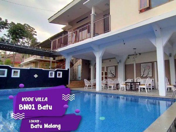 Villa Batu Private Pool Modern Minimalis Kode BN01