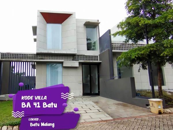 Villa Batu Modern Kode BA 41 Privat Pool Dekat BNS ~ Sewa Villa Batu