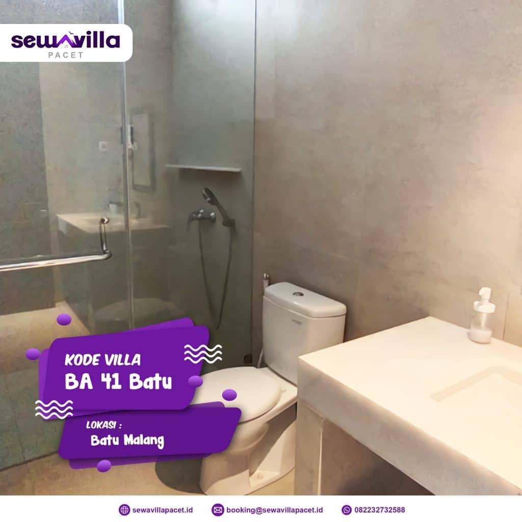 villa batu modern ba 41 bersih ada air panas