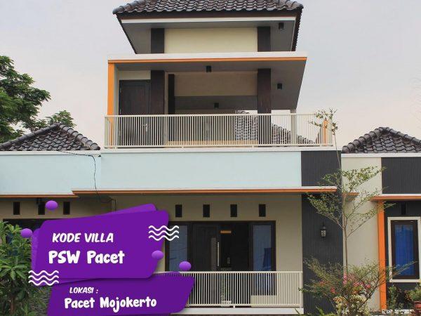 Villa Private Pool Pacet Modern Kode PSW dengan Kapasitas Besar